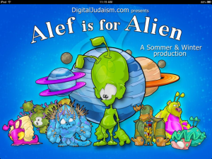 Alef is for Alien by Rabbi Michael Sommer and Illustrated by Eric Winter