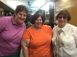 Me, Rabbi Denise L. Eger, and the president of the Jewish community of Cuba, Adela Dworin.